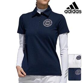【20%OFF】アディダスゴルフ 2019年春夏モデル レディース 半袖 シャツ エンブレム レイヤードシャツ 2枚セット adidas golf【19】ゴルフ fvf00