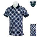【40%OFF】アドミラルゴルフ メンズ 2019年春夏モデル ポロシャツ ビッグチェック柄 Admiral GOLF 【19】M L LL ゴル…