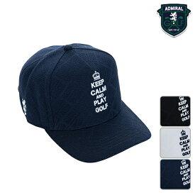 アドミラルゴルフ ユニセックス メンズ レディース 2019年春夏モデル キャップ 帽子 エンボス ロゴ刺繍 58cm フリー サイズ Admiral GOLF【19】ゴルフ admb904f