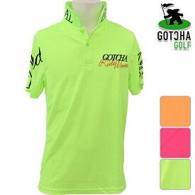 【SALE】ガッチャゴルフ メンズ 2019年春夏モデル 半袖 ポロシャツ ネオンカラー GOTCHA GOLF【19】M L XL XXL ゴルフ 192gg1215