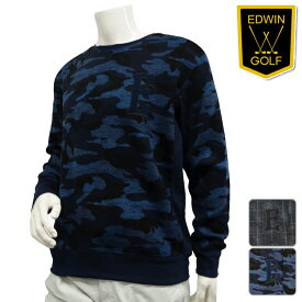 【処分SALE】80%OFF!!【残り、ブラックXLサイズ、1枚限り】【KG9956】【秋冬モデル】EDWIN-エドウィン- MENS(メンズ) フリースクルーネック セーター【16】