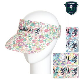 【ADMA762】【春夏モデル】Admiral GOLF-アドミラルゴルフ- (メンズ) LIBERTY VISOR 総柄サンバイザー【17】 フリーサイズ 【帽子】【ヘッドウェア】