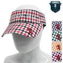 【残り、1個限り!】【45%OFF】【ADMB606F】Admiral GOLF-アドミラルゴルフ- LADYS (レディース) ギンガムチェック バイザー【帽子・キャップ】【ヘッドウエア】【16】帽