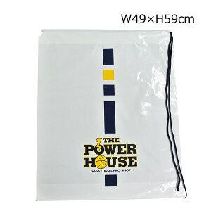 【1点限りネコポス対応】POWER HOUSE パワーハウス オリジナル ひも付き ビニールバッグ P-BAG バスケ スポーツ