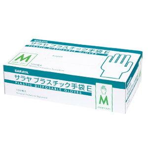 サラヤ プラスチック手袋 E (Mサイズ)
