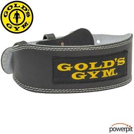 ゴールドジム G3368 トレーニングレザーベルトブラック 背中パッド付き スクワット デッドリフト ローイング ロウイング ショルダープレス トレーニングベルト 革ベルト 皮 WeightTraining LeatherBelt GoldGym