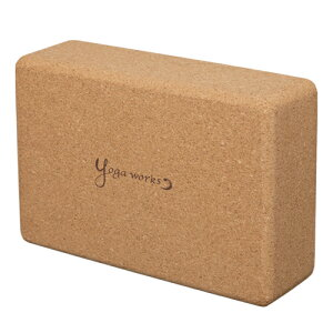 ヨガワークス コルクヨガブロック Mサイズ ヨガポーズ サポート YW-E415-C000 yogaworks