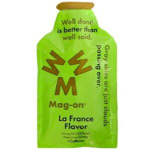 箱 12本入り マグオン エナジージェル ラ フランスフレーバー 水溶性マグネシウム カフェイン エネルギー 炭水化物 ランニング マラソン トライアスロン Mg Magnesium Caffein EnergyGel LaFranceFlavor Mag