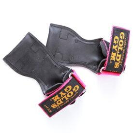 ゴールドジム G3760 パワーグリップ プロタイプ ピンク XSサイズ 握力補助 握力サポート 握力アシスト リストストラップ ウェイトトレーニング プル デッドリフト ローイング ラットマシーン 女性向けサイズ GripSupport PullSupport GoldGym