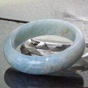 【女性用Lサイズ】アクアマリンバングル|藍玉Aquamarine緑柱石ミルキーアクア海の水アクアマリン【ブレスレットBraceletBangleバングル腕輪】メンズMen'sレディース天然石限定一点物アクアマリン