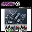 McGard (マックガード) スプラインドライブ ラグナット 20個 フクロタイプ (ブラック) テーパー M12×P1.5 21 品番:MCG-65025B...