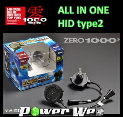 [802-H1108] ZERO1000 ALL IN ONE HID TYPE-2(オールインワンHIDタイプ2) 8000K H8/H9/H11 35W