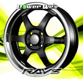 [ホイールのみ単品4本セット] RAYS / VOLK RACING TE37 KCR (BK/FDMC) 15インチ×5.5J PCD:100 穴数:4 インセット:45