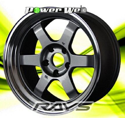 [ホイールのみ単品4本セット]RAYS / VOLK RACING TE37V (GM) 14インチ×8.0J PCD:114.3 穴数:4 インセット:0