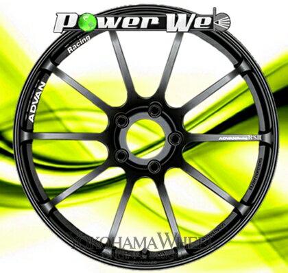 [ホイールのみ単品4本セット] YOKOHAMA WHEEL / ADVAN Racing RSII (SGB) 19インチ×10.5J PCD:114.3 穴数:5 インセット:25