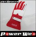 FET SPORT (FET スポーツ) 3Dレーシンググローブ カラー:レッド/ホワイト サイズ:M 【代金引換不可商品】