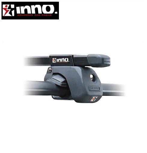 CARMATE inno (カーメイト イノー) マツダ アテンザ 型式:GH##W系 年式:H20.1〜H24.11 ワゴン/ルーフレール付車 フット:IN-AR+フック:IN195+バー:B117(ブラック) スクエアベース 1台分セット