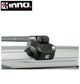 CARMATE inno (カーメイト イノー) シトロエン XM 型式:Y3/Y4系 年式:H4.12〜H13.10 ブレーク/ルーフレール付車 フット:IN-FR+バー:IN-B117(ブラック) スクエアベース 1台分セット