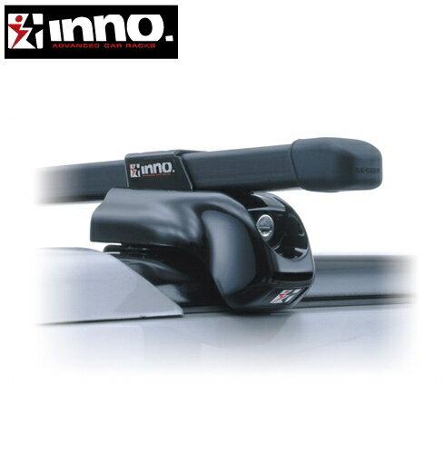 CARMATE inno (カーメイト イノー) ダイハツ テリオス 型式:J10#G/J12#G系 年式:H9.4〜H18.1 ルーフレール付車 フット:IN-TR+フック:TR101+バー:B107(ブラック) スクエアベース 1台分セット