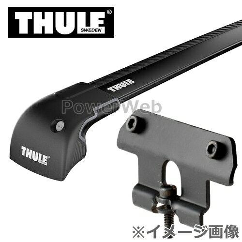 THULE(スーリー) ウイングバーエッジ(ブラック):9594B+キット:4040 スズキ エスクード ダイレクトルーフレール付 年式:H29/10〜 YD125, YE125, YEA1S キャリアセット