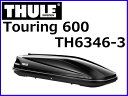 【THULE (スーリー)】 品番:TH6346-3 Touring 600 (ツーリング 600) グロスブラック ルーフボックス