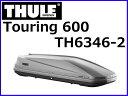 【THULE (スーリー)】 品番:TH6346-2 Touring 600 (ツーリング 600) チタンエアロスキン ルーフボックス