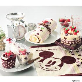 【50%OFF!!】【Disney/ディズニー】ディズニーキャラクターがかわいいケーキタオルに大変身!【ミッキーマウスチョコレートロールケーキ】