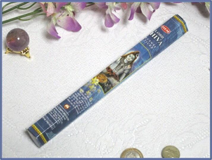 インドのお香♪HEM社製シヴァ香1筒バラ売り(お試しパック)【インド香】【インセンス】【スティックタイプ】【6角Hexaパック】