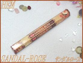 インドのお香♪HEM社製サンダルローズ香SANDAL-ROSE1筒バラ売り(お試しパック)【インド香】【インセンス】【スティックタイプ】【6角Hexaパック】