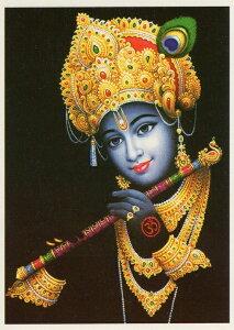 インドの神様 クリシュナ神のお守りカード(小)×1枚[001]India God【krishna】Small Card(charm) 【神聖】【知】【愛】【美】【魅力】【魅了】【お守り】