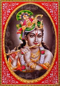インドの神様 クリシュナ神のお守りカード(小)×1枚[004]India God【krishna】Small Card(charm) 【神聖】【知】【愛】【美】【魅力】【魅了】【お守り】