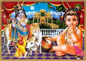インドの神様 クリシュナ神(幼少期)のお守りカード(小)×1枚[011]India God【krishna(Childhood)】Small Card(charm) 【神聖】【知】【愛】【美】【魅力】【魅了】【お守り】