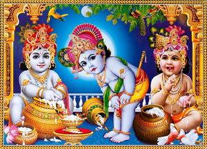 インドの神様 クリシュナ神(幼少期)のお守りカード(小)×1枚[012]India God【krishna(Childhood)】Small Card(charm) 【神聖】【知】【愛】【美】【魅力】【魅了】【お守り】