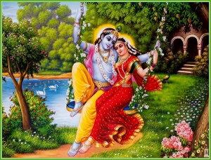 インドの神様 クリシュナ&ラーダのお守りカード(小)×1枚[007]India God【krishna&radha】Small Card(charm) 【神聖】【知】【愛】【美】【魅力】【魅了】【お守り】