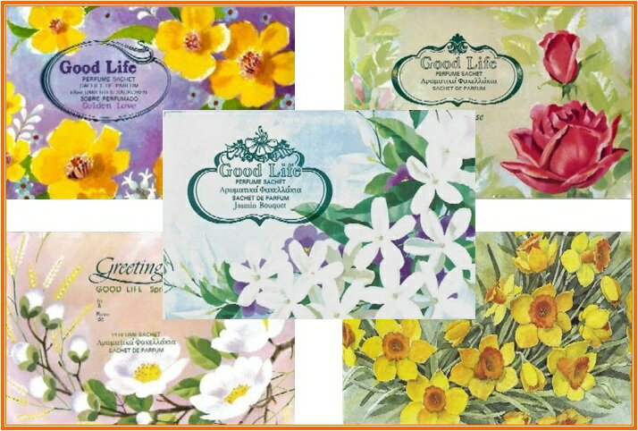 【メール便配送可能!】グッドライフフレグラント・パフューム・サシェ花の香りとハーブをブレンドした高貴で芳しき商品です♪10種類の香りからお選び下さい♪