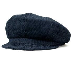 New York Hat ニューヨークハット #9023 Corduroy Spitfire コーデュロイ スピットファイア , Navy 【 帽子 キャスケット コール天 チェック柄 メンズ レディース 男女兼用 】
