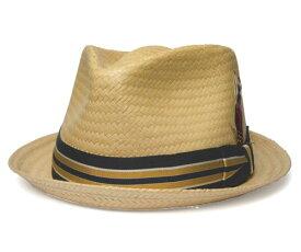 送料無料 NEW YORK HAT ニューヨークハット 2145 STRIPED TOYO T-DROP ストライプ トーヨー ティアドロップ ブラック バンブー サンド 帽子 ハット 中折れハット ストローハット 大きいサイズ メンズ レディース 男女兼用 ギフト