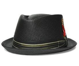 NEW YORK HAT ニューヨークハット 2175 STRIPED TOYO DIAMOND ストライプ トーヨー ダイアモンドブラック バンブー サンド帽子 中折れハット ストローハット メンズ レディース 男女兼用 ギフト