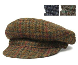 New York Hat ニューヨークハット 9087 Harris Tweed Dutch ハリスツイード ダッチ Olive Grey Navy 帽子 キャップ 紳士 メンズ レディース 男女兼用 ツバ
