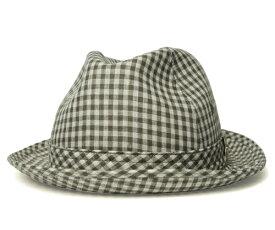 送料無料 Borsalino ボルサリーノ ウィンザーハット BX523 カーキ 帽子 ギンガムチェック ハット 中折れハット メンズ レディース 男女兼用 ギフト