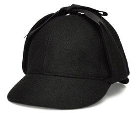クリスティーズ ロンドン シャーロック キャップ CHRISTYS LONDON 40044 Sherlock Cap ブラック 帽子 紳士 婦人 メンズ レディース 送料無料 男女兼用 ギフト あす楽