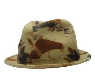 New York Hat纽约帽子#5135 Como Crusher Fedora kamokurasshafedora Camo帽子帽子毡羊毛伪装色军事陆军美国制造绅士妇女人分歧D男女兼用男女两用