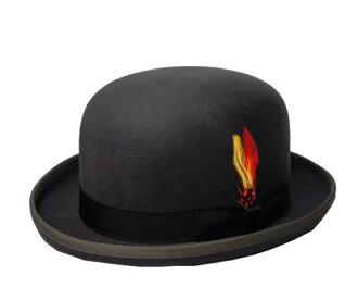 纽约锅炉帽子毡帽德比帽子纽约帽子 5007 经典德比经典德比木炭灰 chakooru_guree 另一个注意男人的女人
