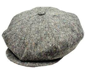 ニューヨークハット New York Hat 9030 TWEED NEWSBOY 帽子 キャスケット ツイード ニュースボーイ グレー Grey 紳士 婦人 メンズ レディース 男女兼用