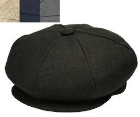 ニューヨークハット New York Hat 6212 LINEN NEWSBOY リネンニュースボーイ キャスケット Black Oatmeal Navy Grey 紳士 婦人 メンズ レディース 男女兼用