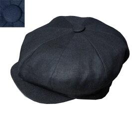 ニューヨークハット New York Hat 6200 LINEN BIG APPLE リネン ビッグアップル Black Navy 帽子 キャスケット メンズ レディース 男女兼用 あす楽