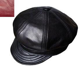 ニューヨークハット New York Hat 帽子 キャスケット レザー 9207 LAMBSKIN SPITFIRE ランバスキン スピットファイア Black Wine メンズ レディース 送料無料 大きいサイズ