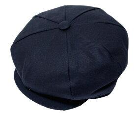 ニューヨークハット New York Hat 6218 CANVAS NEWSBOY キャスケット キャンバス ニュースボーイ Navy 帽子 キャンバス 無地 紳士 婦人 メンズ レディース 男女兼用