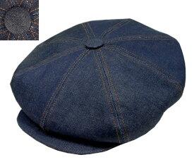 ニューヨークハット 帽子 キャスケット ハンチング New York Hat 6291 Denim Stitch Big Apple デニムステッチビッグアップル Blue Black デニム 紳士 婦人 メンズ レディース 男女兼用 大きいサイズ 春夏秋冬