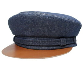 New York Hat ニューヨークハット #6236 Denim Fiddler w/Raw Leather レザー マリンキャップ デニム 紳士 婦人 メンズ レディース 男女兼用